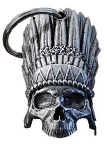 3D Indian Chief Head Dess Skull Bell Guardian Gremlin, Lifestyle Accessories - Fat Skeleton UK