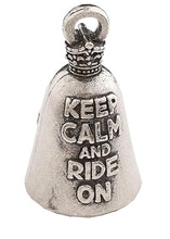Keep Calm & Ride On Guardian Angel Bell, Lifestyle Accessories - Fat Skeleton UK