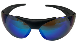 "Fat Skeleton ""Kruze"" Gtech Blue Mirror Retro Style Biker Wraps, Eyewear - Fat Skeleton UK"
