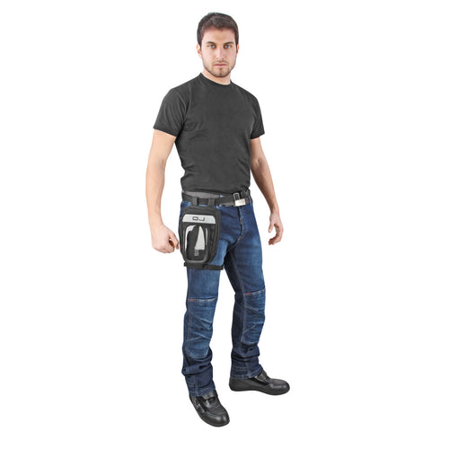 Medium Leg Pouch with Waterproof Cover, Lifestyle Accessories - Fat Skeleton UK