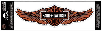 Large Genuine Harley Davidson Wings Bar & Shield logo sticker, Lifestyle Accessories - Fat Skeleton UK