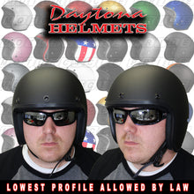 Daytona Low Profile Open Face Matt Black Built for Speed Pin Up D.O.T., Open Face Helmets - Fat Skeleton UK