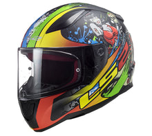 LS2 F353 FEISTY CATCHER Graphic Full Face Motorcycle Helmet