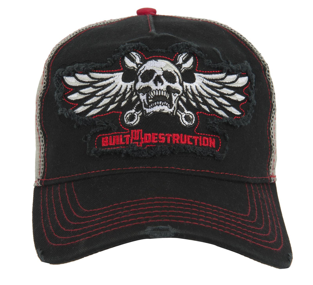 Lethal Threat Built 4 Destruction Trucker style Baseball Cap