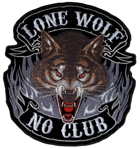 Lone Wolf Sew on Patch LARGE, Lifestyle Accessories - Fat Skeleton UK