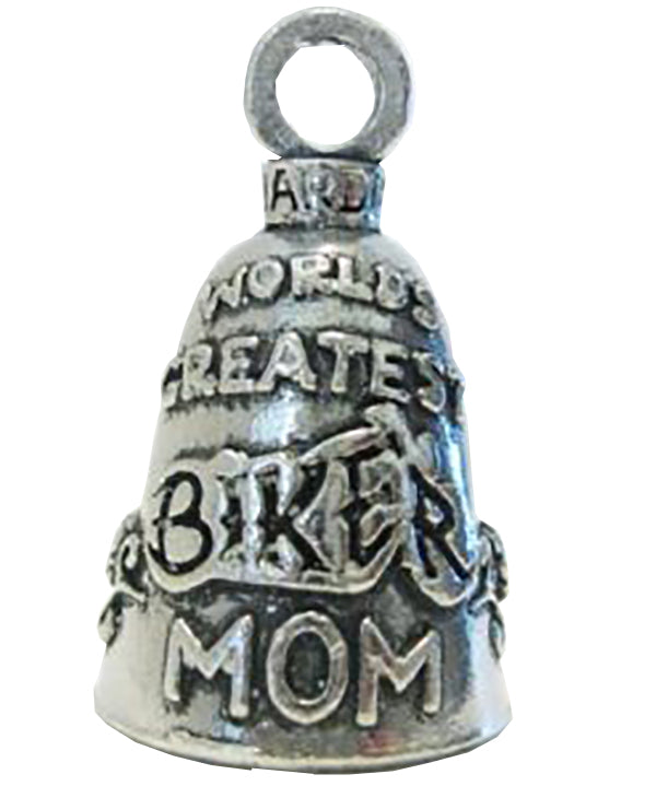 Biker Mom (Worlds Greatest) Guardian Angel Bell, Lifestyle Accessories - Fat Skeleton UK