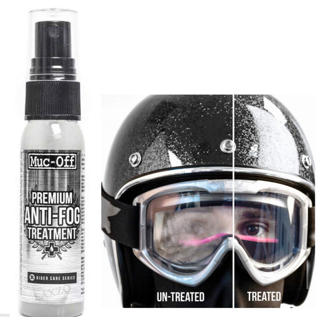 Muc Off Anti Fog Spray for Visors Goggles & Riding Eyewear, Helmet - Fat Skeleton UK