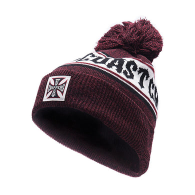 West Coast Choppers Jesse James Knitted Hockey Beanie, Clothing Accessories - Fat Skeleton UK