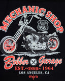 American Bobber Mechanic Shop Garage T Shirt, Mens Clothing - Fat Skeleton UK