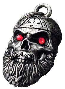 3D Old School Biker Skull Bell with Red Eyes Guardian Gremlin, Lifestyle Accessories - Fat Skeleton UK