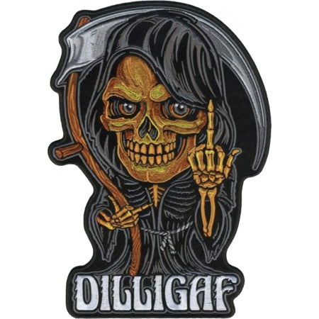 DILLIGAF Skeleton Small Sew on Patch