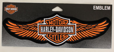 Genuine Harley Davidson Medium Winged Bar & Shield Logo Sew On Patch, Lifestyle Accessories - Fat Skeleton UK