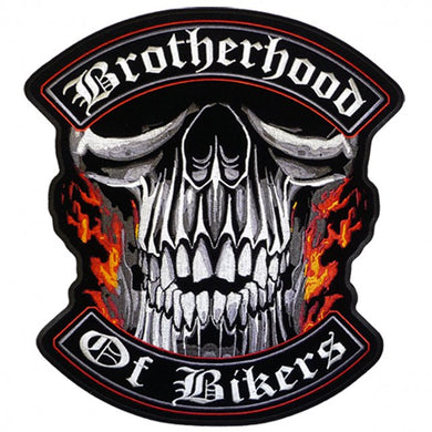 Brotherhood of Bikers Sew on Patch, Lifestyle Accessories - Fat Skeleton UK