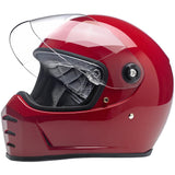 Biltwell Lane Splitter Gloss Blood Red Full Face Helmet, Full Face Helmets - Fat Skeleton UK