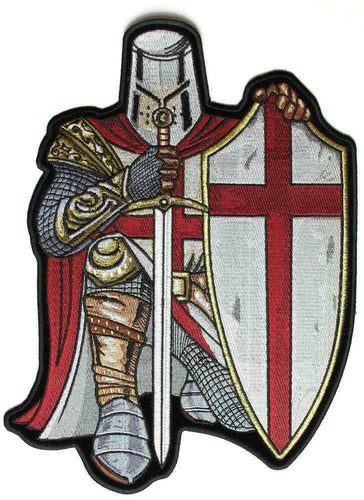 Red Cross Knights Templar Crusader LARGE Sew on Patch, Lifestyle Accessories - Fat Skeleton UK