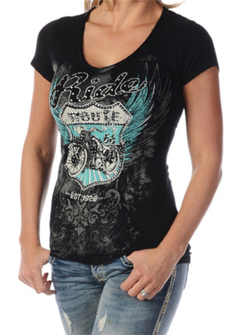 Liberty Wear Route 66 Ladies Short Sleeve Top