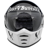 Biltwell Lane Splitter Rusty Butcher Full Face Helmet, Full Face Helmets - Fat Skeleton UK
