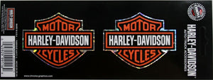 Genuine Harley Davidson Bar & Shield logo twin sticker set, Lifestyle Accessories - Fat Skeleton UK
