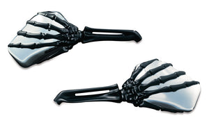 Kuryakyn Skeleton Hand Mirrors Harley Davidson & Some Metric Fit, Motorcycle Accessories - Fat Skeleton UK