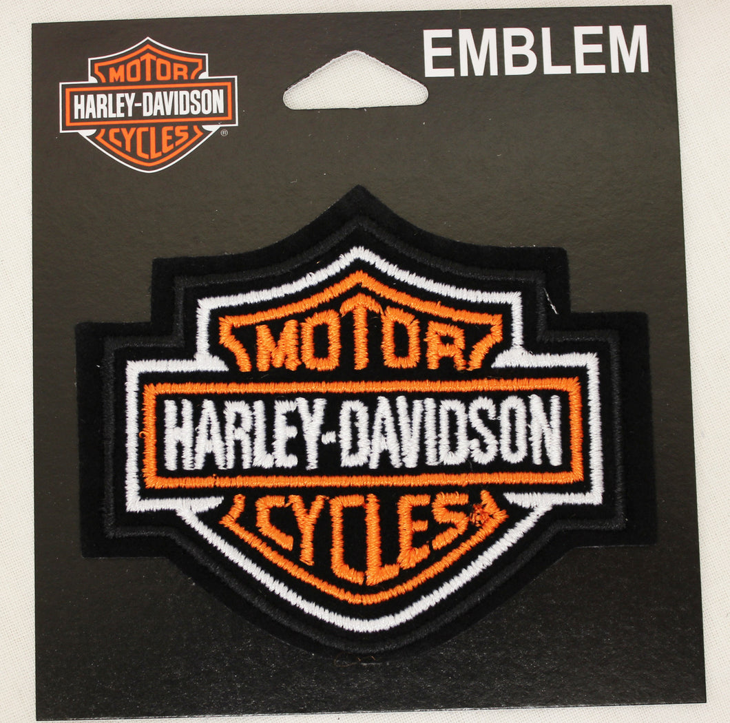 Genuine Harley Davidson small Bar & Shield Logo SEW ON PATCH, Lifestyle Accessories - Fat Skeleton UK