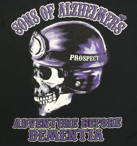 "Sons of Alzheimer's Prospect 'ADVENTURE BEFORE DEMENTIA' ""Charity"" T Shirt, Mens Clothing - Fat Skeleton UK"
