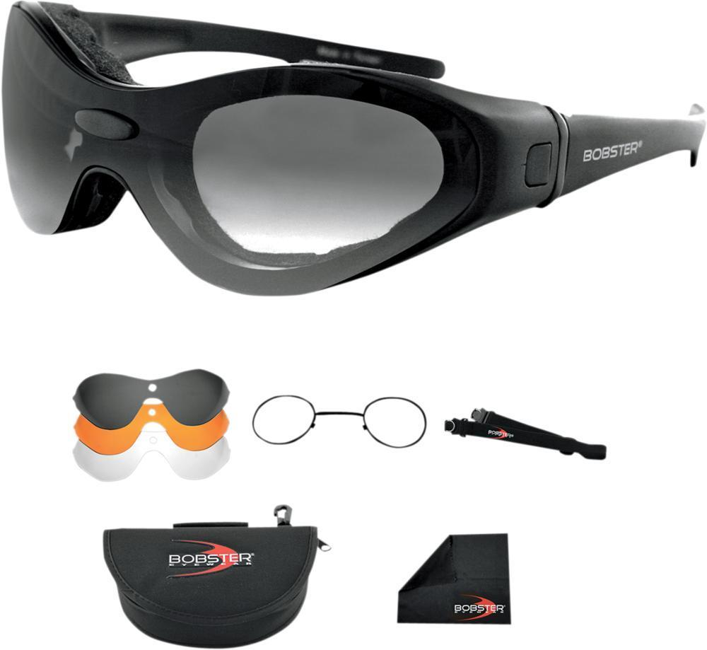 Bobster Spextrak Goggles Glasses Interchangeable Lens & Prescription Insert Kit, Eyewear - Fat Skeleton UK