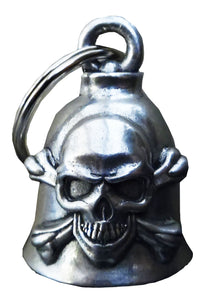 3D Skull & Cross Bones Bell Guardian Gremlin, Lifestyle Accessories - Fat Skeleton UK