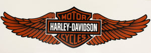 Genuine Harley Davidson Large Winged Logo sticker, Lifestyle Accessories - Fat Skeleton UK