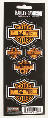 Genuine Harley Davidson Bar & Shield logo sticker set, Lifestyle Accessories - Fat Skeleton UK