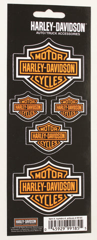 Genuine Harley Davidson Bar & Shield logo sticker set, Accessories - Fat Skeleton UK