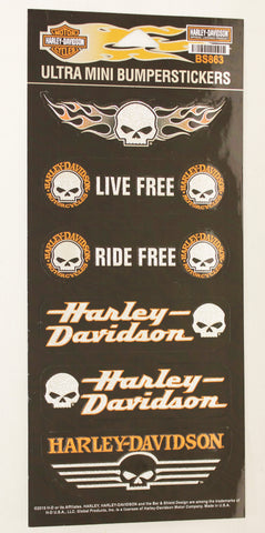 Genuine Harley Davidson Willie G logo metallic sticker set, Accessories - Fat Skeleton UK