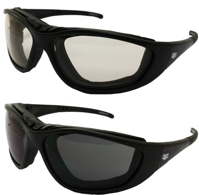 Fat Skeleton Sturgis 24 Removable EVA Foam Padded Clear to Dark Reactalite, Eyewear - Fat Skeleton UK