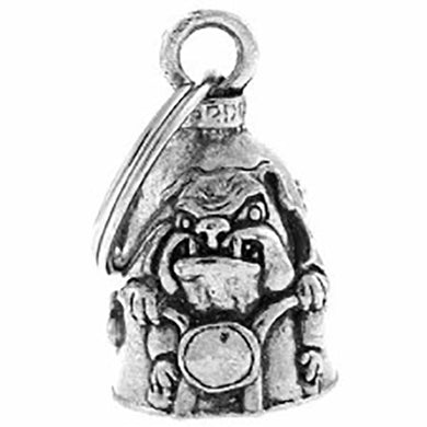 Biker Bulldog Guardian Angel Bell, Lifestyle Accessories - Fat Skeleton UK