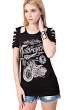 Race Rebel Long Sleeve with highlight studs by Vocal of California, Womens Clothing - Fat Skeleton UK