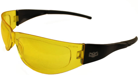 Fat Skeleton Volusia - Petite Fit Yellow Lens Wraps