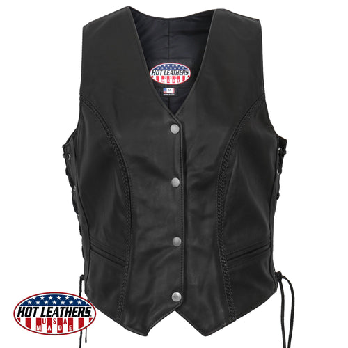 Ladies American Made Leather Waistcoat
