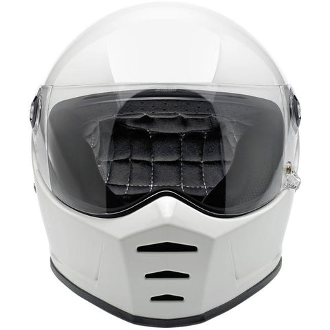 Biltwell Lane Splitter Gloss White Full Face Helmet, Full Face Helmets - Fat Skeleton UK