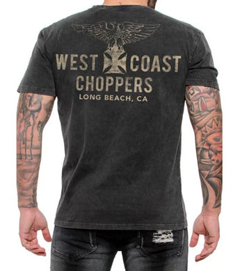 West Coast Choppers Jesse James Eagle Vintage T Shirt, Mens Clothing - Fat Skeleton UK