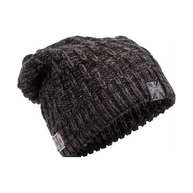 West Coast Choppers Jesse James Knitted  Metal Patch Beanie, Clothing Accessories - Fat Skeleton UK