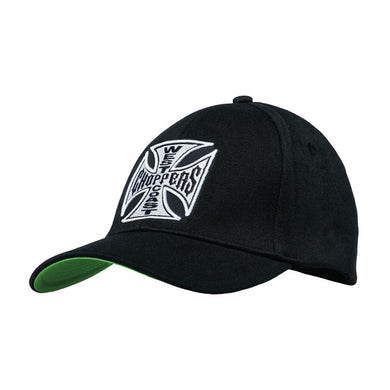 West Coast Choppers Logo Round Peak Snap Back Cap Jesse James, Clothing Accessories - Fat Skeleton UK