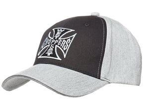 West Coast Choppers Grey & Black signature Cap Jesse James, Clothing Accessories - Fat Skeleton UK