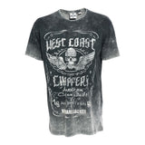 West Coast Choppers Ride Hard Sucker Wing Skull Jesse James T Shirt