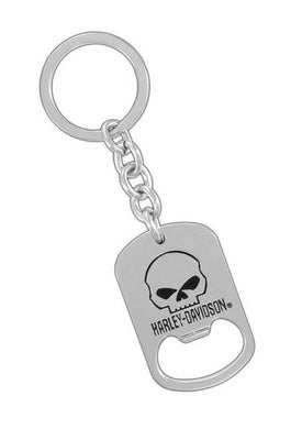 Harley Davidson Willie G Skull Key Ring & Bottle Opener, Lifestyle Accessories - Fat Skeleton UK
