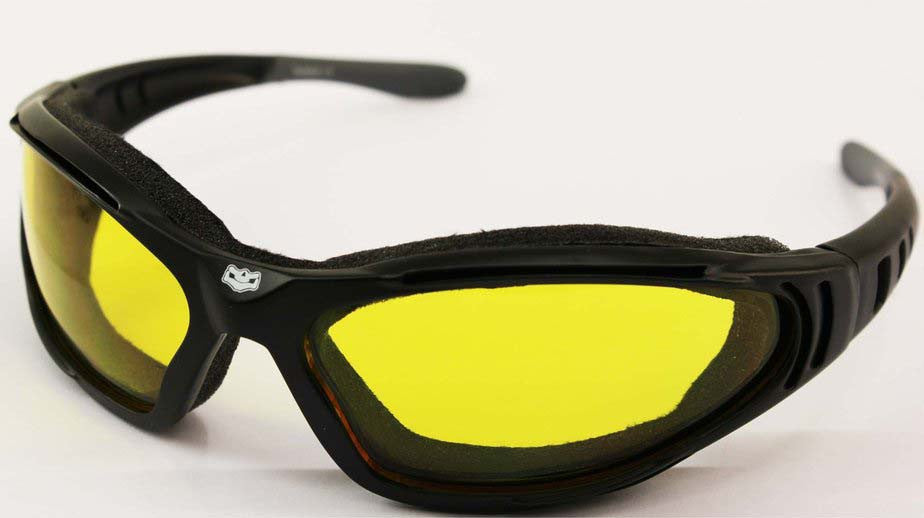 Fat Skeleton Windmaster II Yellow Lens EVA Foam Padded Sunglasses, Eyewear - Fat Skeleton UK