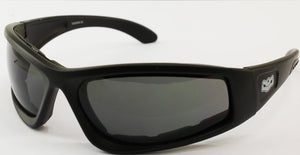 "Fat Skeleton Wyoming ""WIDE FIT"" EVA Foam Padded Smoke Lens Sunglasses, Eyewear - Fat Skeleton UK"