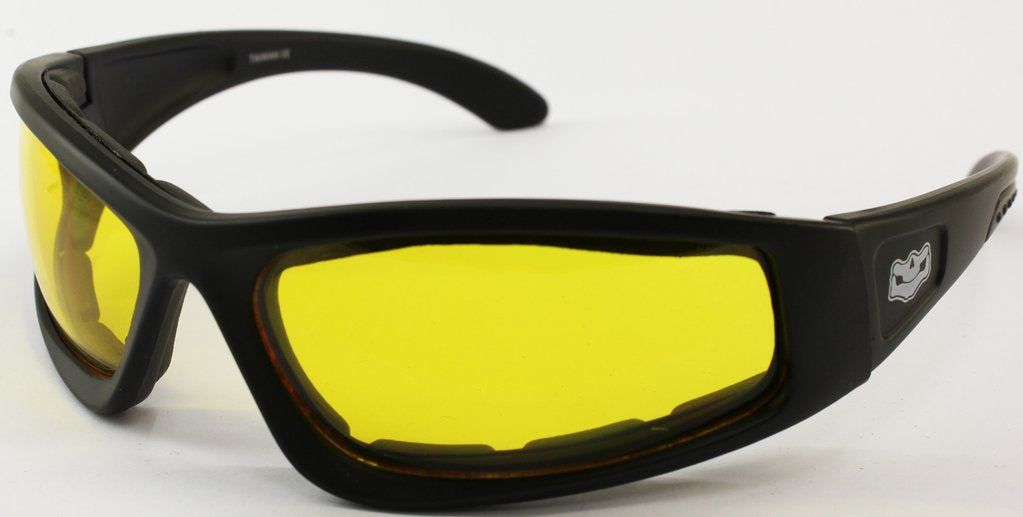 Yellow Lens Fat Skeleton Wyoming Wide Fit EVA Foam Padded, Eyewear - Fat Skeleton UK