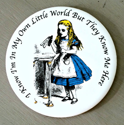 Alice In Wonderland Ceramic Coaster - Alice