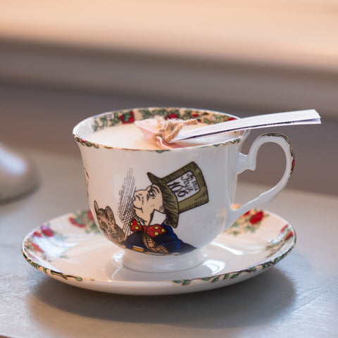 Alice In Wonderland Tea Cup Candle