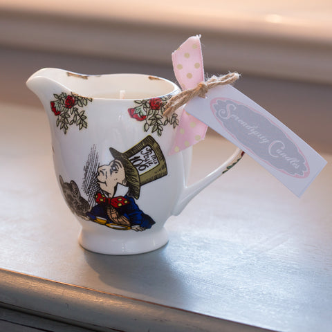 Alice In Wonderland Mad Hatter Tea Party Cream Jug Candle
