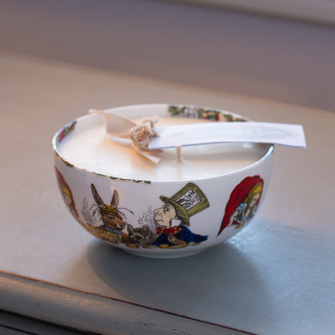 Mad Hatter Tea Party Sugar Bowl filled with A Fragranced Candle